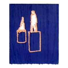 """i.m."" Woodblock printing, oil based ink printed on Rives BFK paper, 2013, 20x16.5cm, by Yasuyoshi Tokida, 常田泰由"