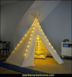 Teepee Lights  wolf theme bedrooms - Santa Fe style - wolf bedding - Tipis, Tepees, Teepees - Decal sticker wolf - wolf wall mural decals - birch tree branches - cactus decor