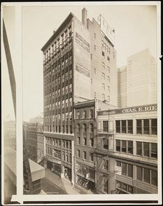 The Lee Tire and Rubber Co. buildings at 245 West 55th Street from the roof of a building across the street  now the DuArt Building