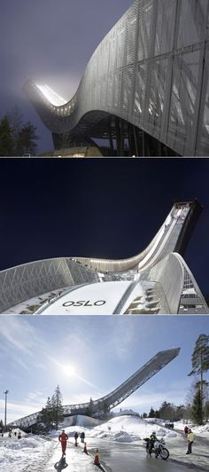 JDS Architects & Norway's Awesome Holmenkellen Ski Jump