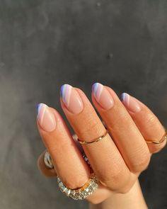 Simple Acrylic Nails, Best Acrylic Nails, Acrylic Nail Designs, Easy Nail Designs, Short Nail Designs, Pastel Nails, Clear Nail Designs, Clear Nails With Design, Nail Design For Short Nails