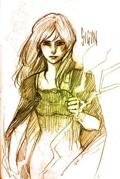 Sigyn   Tumblr. <=== This is beautiful, showing both Sigyn's youth as well as her forced maturity.