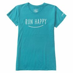 Running t-shirt for women: Brooks Run Happy Smile Tee
