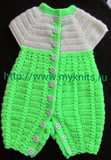 MyKnits.Ru: Комбинезон крючком для малыша. Описание