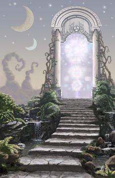 Fantasy Landscape Digital Art - Dream Door by Joseph Kemeny artwork landscape Dream Door by Joseph Kemeny Fantasy Kunst, Fantasy City, Fantasy Places, Fantasy World, Dream Fantasy, Fantasy Art Landscapes, Fantasy Landscape, Fantasy Concept Art, Fantasy Artwork