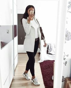 Beautiful Casual Business Outfit for Ladies attire Beautiful - Business Attire Winter Outfits Women, Casual Winter Outfits, Winter Fashion Outfits, Classy Outfits, Look Fashion, Trendy Outfits, Formal Outfits, Ladies Outfits, Woman Fashion