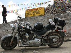 Harley Davidson 'Fatboy' at Khardung-la  !!!