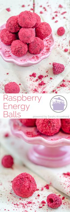 Raspberry Energy Balls - super easy and healthy!