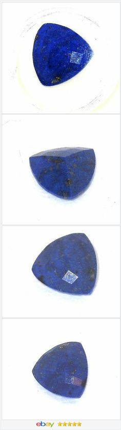 Lapis Lazuli 9.00 tcw Loose Gemstone 18 mm trillion faceted USA SELLER  | eBay  50% off #ebay http://stores.ebay.com/JEWELRY-AND-GIFTS-BY-ALICE-AND-ANN