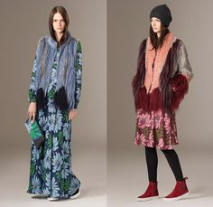 P.A.R.O.S.H. Paolo Rossello Second Hand Milan Italy 2015-2016 Fall Autumn Winter Womens Lookbook Collection - Paris France Presentation - Furry Shaggy Outerwear Coat Jacket Tartan Plaid Flowers Florals Botanical Print Motif Boho Bohemian Hippie Chic Maxi Dress Bell Skirt Frock Owl Fringes Tunic Wrap Robe Vest Waistcoat Blouse Embroidery Knit Cap Cardigan Sequins Wide Leg Palazzo Pants Ribbon