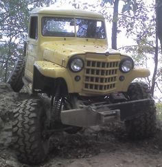 Originally Posted by Dr.Frankenfender I have a 48 willys Jeepster, It is sitting on a 57 wagon frame, with a chevy up front, and ford out back. Jeep Pickup, Jeep 4x4, Jeep Truck, Pickup Trucks, Cool Trucks, Big Trucks, Willys Wagon, Jeep Willys, Lifted Chevy Trucks