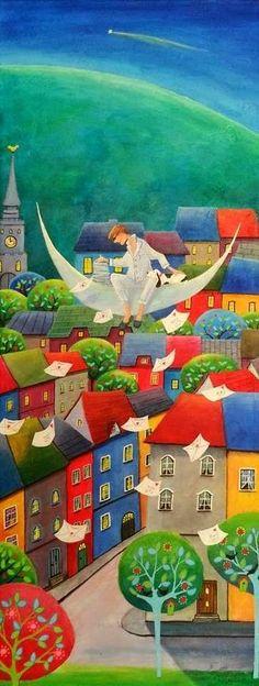 "IWONA LIFSCHES   Varsovia , Polonia      ""El maravilloso mundo de la ilustración""  (1)     ""IWONA LIFSCHES""       ""Nací en Varsovia, Polonia..."