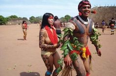 Xingu region brazilian indian pintura corporal indigena - Google Search