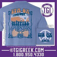 TGI Greek - Zeta Tau Alpha - Theta Xi - Date Party Shirts - Woodstock - Greek T-shirts - Comfort Colors  #tgigreek #zetataualpha #woodstock