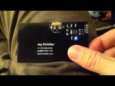 Capacitive Touch PCB Business Card - Lights up when touched! #bizcards #businesscards #career
