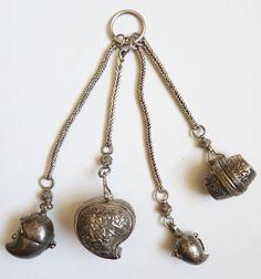 320f29452393 Nécessaire fumeur breloques boites ARGENT chatelaine Chine 19e siècle  silver   Art, antiquités, Objets. eBay