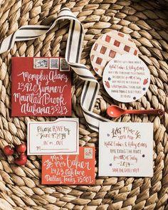 Featured Photo: Nicole Berrett Photography; red wedding invitation idea
