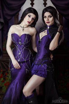 Models: La Esmeralda & Elisanth * goth, goth girl, goth fashion, goth makeup, goth beauty, dark beauty, gothic, gothic fashion, gothic beauty, sexy goth,   alternative models, gothicandamazing, gothic and amazing, готы, готическая мода, готические модели, альтернативные модели