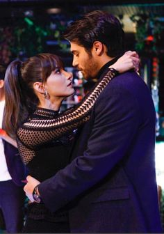 Ozge Gurel as Nazli and Can Yaman as Ferit in the Turkish TV series DOLUNAY, 2017-2017. Movie Couples, Cute Couples, Luxury Couple, Famous In Love, Tv Series To Watch, Turkish Beauty, Black Women Art, Love Stars, Turkish Actors