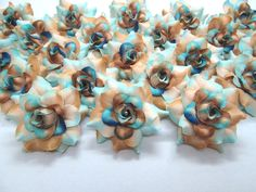 (100) Silk Sea Beach Roses Flower Head - 1.75' - Artificial Flowers Heads Fabric Floral Supplies Wholesale Lot for Wedding Flowers Accessories Make Bridal Hair Clips Headbands Dress -- To view further for this item, visit the image link.