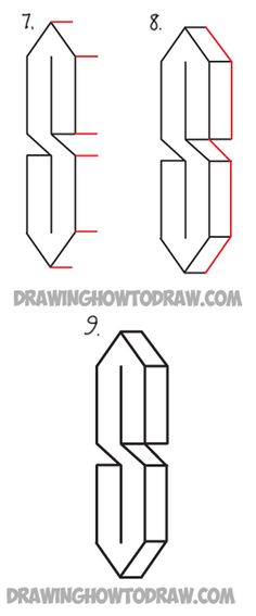 how to draw the impossible staircase step by step