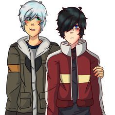 Zane and Travis cosplaying as Keith and Lance (from Voltron LD) Art by: Pheonix358 (on instagram)