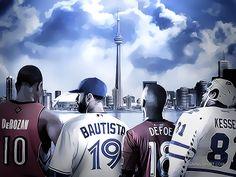 DeMar DeRozan, Jose Bautista, Jermain Defoe, Phil Kessel (Toronto)