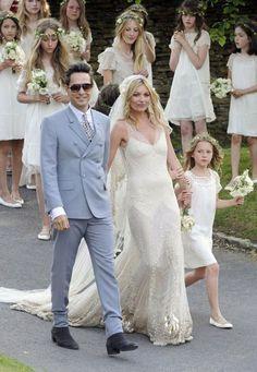 The Kills' Jamie Hince w/ bride Kate Moss