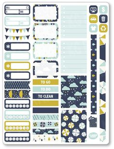 Rainy Day Functional Kit Planner Stickers