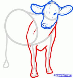 How to Draw Cattle, Step by Step, Farm animals, Animals, FREE ...