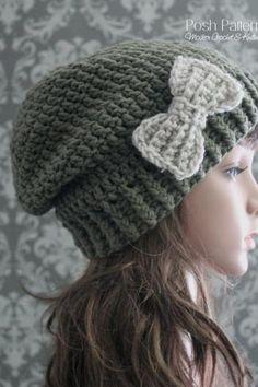 Crochet Pattern - Crochet Slouchy Hat Pattern - Crochet Hat Pattern - Includes Toddler, Child, Adult Sizes - PDF 381