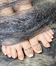 French Pedicure, Pedicure Nail Art, Nail Swag, Toe Nails, Vietnam, Fat, Polish, Tattoos, Makeup