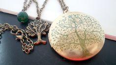 Medaillonketten - Ewiges Leben - Lebensbaum - Medaillonkette - ein Designerstück von LoLoMio bei DaWanda