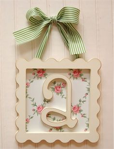 Framed Wooden Letters by New Arrivals Inc., Wall Letters,Personalized Art, Art for Children