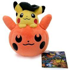 "Halloween Pikachu ~6"" Head-on-Pumpkin-Head Plush - Pokemon Center Poké Doll Plush Halloween Limited Edition (Japanese Imported)"