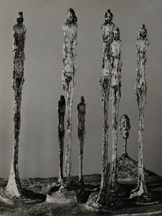 Alberto Giacometti sculptures in bronze
