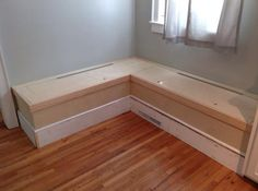 Install hinges and drill holes for finger pulls.