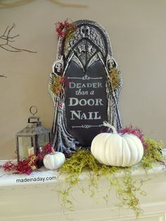 Chalkboard Tombstone ~FREE Printable - Made in a Day