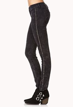 Grunge Life Spiked Skinny Jeans | Forever 21 - 2000092989