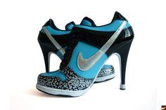 Nike Shoes For Women High Heels Women's nike dunk high heels Nike High Heels, Low Heels, High Heel Tennis Shoes, Crazy High Heels, Nike Free Run, Nike Free Shoes, Nike Dunks, Nike Outfits, Nike Dunk High