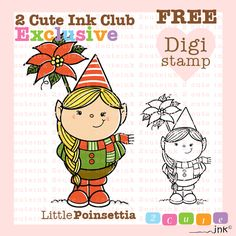 """100 Club Member Exclusive Digital Stamp GiveAway! How it works: Once we hit 100 Club Members, ALL Club members get this FREE digi! 1. """"Like"""" 2. """"Share""""  Then of course Please""""Join the Club"""" - http://www.2cuteink.com/digi-club.html if you haven't joined already!   #cardmaking #digitalstamps #free #giveaway #StampClub #LetsReach100 #CuteDigiStamps"""