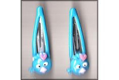 Angry Birds Girls Blue Hair Clips