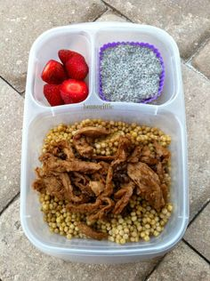Soy curls #couscous and #chia bento lunch box