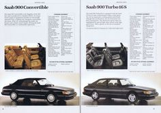 1987 SAAB 900 convertible and turbo 16s details. Check out the sumptuous leather padding and sexy-ass SPG style rims. SAAB always went with the three spoke look for their sportier versions in the 900 and 9-3 range.
