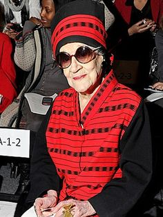 A greay big salut and RIP to Zelda Kaplan, 95 - a fashion loving 1960's and forever  socialite collasped yesterdan  during the Joanna Mastroianni Fashion show  at New York's Fashion Week at Lincoln Center.
