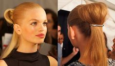 Pinned-down ponytails at the Marc by Marc Jacobs Spring 2012 show, featuring the Goody Jenna barrette.