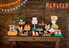 Pra chegada do Benício, uma festa lindona! 🍂🌻Muito encantada com o chá de bebê tema raposinha criada por @dasjoanas 🐺 💛 Foto…