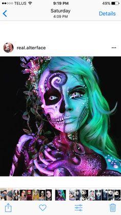 Benefits Of Airbrush Makeup Arte Zombie, Airbrush Makeup, Sfx Makeup, Makeup Eyeshadow, Fantasias Halloween, Horror Makeup, Theatrical Makeup, Halloween Makeup Looks, Make Up Art