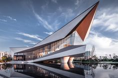 Shaping the Floating Space —— Langtin Yuanzhu Experience Hall Museum Architecture, Architecture Concept Drawings, Modern Architecture House, Futuristic Architecture, Architecture Photo, Modern Buildings, Amazing Architecture, Minimalist Architecture, Futuristic Design