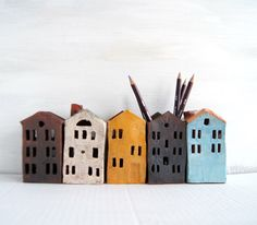 Tin House-Ceramic Pencil Holder-Dark Chocolate-Ceramics And Pottery by Vsocks on Etsy https://www.etsy.com/listing/217149084/tin-house-ceramic-pencil-holder-dark